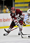 22 November 2011: University of Massachusetts Minutemen forward Zack LaRue, a Freshman from Sault Ste. Marie, Ontario, in action against the University of Vermont Catamounts at Gutterson Fieldhouse in Burlington, Vermont. The Catamounts defeated the Minutemen 2-1 in their annual pre-Thanksgiving meeting of the Hockey East season. Mandatory Credit: Ed Wolfstein Photo1