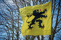 De Ronde van Vlaanderen 2012..the flag - the lion
