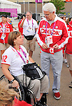 LONDON, ENGLAND – 08/26/2012:  Gordon Campbell at Canada's Flag Raising Ceremony at the London 2012 Paralympic Games. (Photo by Matthew Murnaghan/Canadian Paralympic Committee)