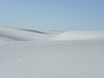 Surreal landscape of gypsum dunes at White Sands National Monument in southern New Mexico.