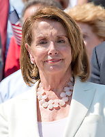 United States House Minority Leader Nancy Pelosi (Democrat of California) joins Democratic members of the US House of Representatives and US Senate as they assemble on the East Steps of the US Capitol to call on Republican leadership in both legislative bodies to schedule votes on funding to combat the Zika Virus, to prohibit people on the federal &quot;no fly&quot; list from purchasing guns, and to conduct confirmation hearings and schedule a vote on the confirmation of Judge Merrick Garland as Associate Justice of the US Supreme Court in Washington, DC on Thursday, September 8, 2016.<br /> Credit: Ron Sachs / CNP /MediaPunch