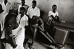 Young men abducted by the Lords Resistance Army at a prayer service. Gulu, Uganda