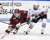 Philip Samuelsson (BC - 5), Steve Silva (Northeastern - 17) - The Northeastern University Huskies defeated the visiting Boston College Eagles 2-1 on Saturday, February 19, 2011, at Matthews Arena in Boston, Massachusetts.