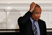 American Express Chairman and CEO Kenneth Chenault participates in a meeting of  President Barack Obama's Council on Jobs and Competitiveness, a group of business leaders tapped to come up with job-spurring ideas, in the State Dining Room at the White House January 17, 2012 in Washington, DC. Headed by General Electric CEO Jeffrey Imelt, the council released a report with suggestions, including investment in education and research and development, support for the manufacturing sector and reform in the tax and regulatory systems..Credit: Chip Somodevilla / Pool via CNP