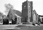 Pittsburgh PA:  View of the First Unitarian Church of Pittsburgh - 1951.  Located in the Shadyside section of Pittsburgh, the church was dedicated in 1904.