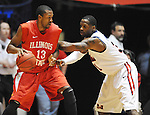 "Illinois State's John Wilkins (13) is defended by Mississippi's Murphy Holloway (31) in a National Invitational Tournament game at the C.M. ""Tad"" Smith Coliseum in Oxford, Miss. on Wednesday, March 14, 2012. (AP Photo/Oxford Eagle, Bruce Newman)"