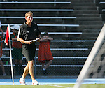 2 September 2007: Wake Forest head coach Jay Vidovich. The Wake Forest University Demon Deacons defeated the Monmouth University Hawks 2-0 at Fetzer Field in Chapel Hill, North Carolina in an NCAA Division I Men's Soccer game.