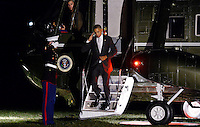 United States President Barack Obama salutes the Marine Guard as he returns to the White House on October 28, 2016 in Washington, DC. Obama traveled to Florida in the afternoon to campaign for Democratic presidential candidate Hillary Clinton. <br /> Credit: Olivier Douliery / Pool via CNP /MediaPunch