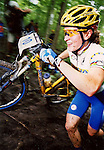 World Champion Allison Dunlap on her way to a win at the 2002 NORBA Nationals in Alpine Valley, WI.