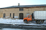 TORRINGTON, CT - 30 December, 2010 - 123010MO07 - Mountain Top Trucking workers loaded old furniture and fixtures into a semi trailer Thursday, preparing to demolish Torrington's old train station. Jim Moore photo.
