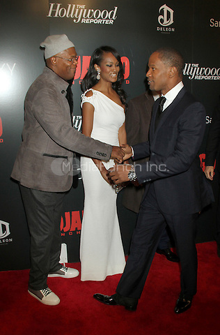 NEW YORK, NY - DECEMBER 11: Samuel L. Jackson, Nichole Galicia and Jamie Foxx at the Screening Of 'Django Unchained' at  the Ziegfeld Theater on December 11, 2012 in New York City.Credit: RW/MediaPunch Inc.