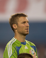 Seattle Sounders FC defender Jeff Parke (31). The New England Revolution defeated the Seattle Sounders FC, 3-1, at Gillette Stadium on September 4, 2010.