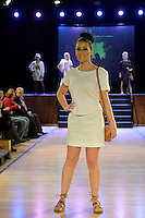 Amelia Boland, New Zealand Eco Fashion Exposed, Eco Designer Runway at Notre Dame Performing Arts Centre, Lower Hutt, New Zealand on Saturday 26 July 2014. <br /> Photo by Masanori Udagawa. <br /> www.photowellington.photoshelter.com.