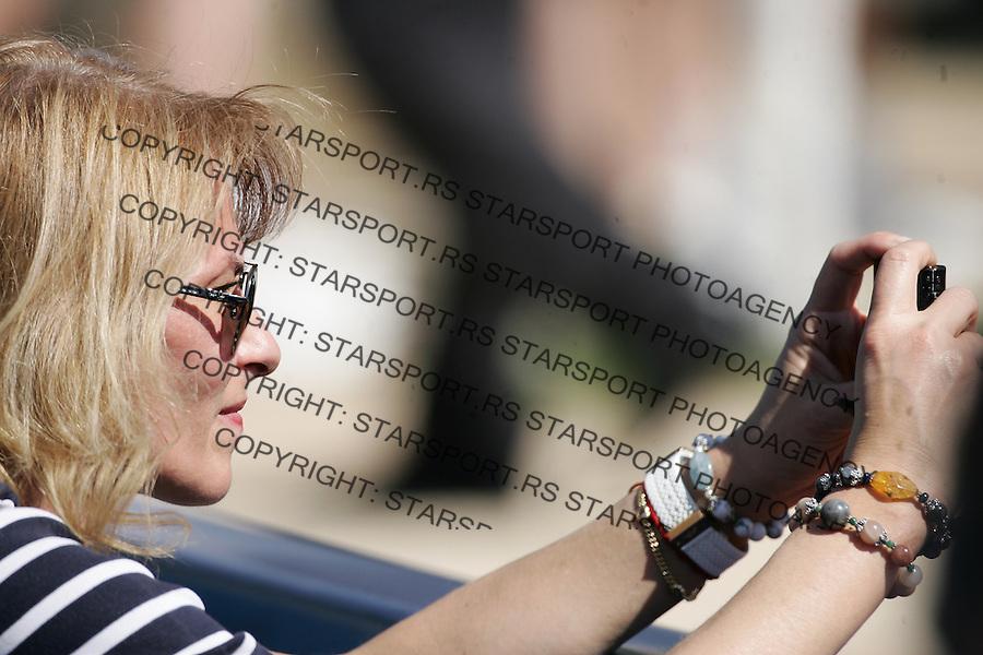 Serbia Open 2012.Qualifications.Djordje Djokovic (SRB) Vs. Josselin Ouanna <br /> Dijana Djokovic mother of Novak Djokovic and Djordje Djokovic (FRA).Belgrade, 28.04.2012..foto: Srdjan Stevanovic/Starsportphoto &copy;