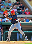 5 March 2009: Washington Nationals' outfielder Justin Maxwell in action during a Spring Training game against the Detroit Tigers at Joker Marchant Stadium in Lakeland, Florida. The Tigers defeated the visiting Nationals 10-2 in the Grapefruit League matchup. Mandatory Photo Credit: Ed Wolfstein Photo