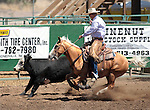 Dan Coverly competes in the Ranch Horse Class at the Minden Ranch Rodeo on Saturday, July 21, 2012..Photo by Cathleen Allison
