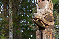 Sitka National Historic Park preserves and interprets the site of a Tlingit Indian Fort and the battle fought between the Russians and the Tlingits in 1804 and contains Haida & Tlingit totem poles.