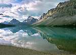 Bow Lake reflection, Banff National Park, Alberta, Canada