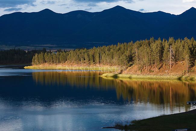 Sunset on Sophie Lake in northwest Montana near Kalispell