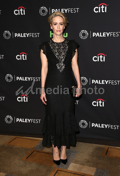 "20 March 2015 - Hollywood, Sarah Paulson. The Paley Center For Media's 33rd Annual PaleyFest Los Angeles - Closing Night Presentation: ""American Horror Story: Hotel"" Held at The Dolby Theatre. Photo Credit: F.Sadou/AdMedia"