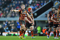Gareth Steenson of Exeter Chiefs issues instructions. European Rugby Champions Cup match, between Exeter Chiefs and the Ospreys on January 24, 2016 at Sandy Park in Exeter, England. Photo by: Patrick Khachfe / JMP