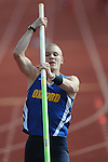 "Oxford High's Sam Kendricks pole vaults at the Oxford Eagle Invitational at Oxford High School in Oxford, Miss. on Monday, March 28, 2011.  Kendricks vaulted 15'-5""."