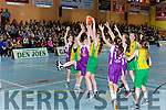 Muireann Rahilly Scartaglen takes the rebound against Gneeveguilla during the Senior NS Girls A final on Friday