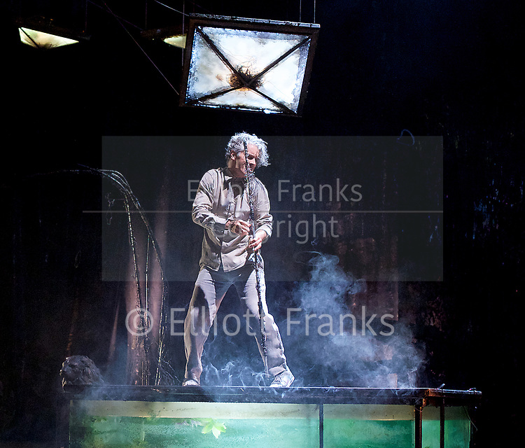 The Toad Knew <br /> James Thierree / Compagnie du Hanneton <br /> at Sadler's Wells, London, Great Britain <br /> Press photocall <br /> 3rd may 2017 <br /> <br /> James Thierree<br /> <br /> <br /> Photograph by Elliott Franks <br /> Image licensed to Elliott Franks Photography Services