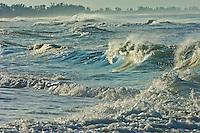 Rough seas at the beach on Anna Maria Island in Florida.
