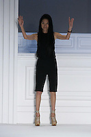 Fashion designer Vera Wang thanks audience for attending her Vera Wang Spring 2012 collection fashion show, during Mercedes-Benz Fashion Week Spring 2012.