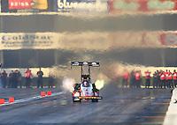 Feb 13, 2016; Pomona, CA, USA; NHRA top fuel driver Doug Kalitta during qualifying for the Winternationals at Auto Club Raceway at Pomona. Mandatory Credit: Mark J. Rebilas-USA TODAY Sports