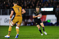Rhys Priestland of Bath Rugby in possession. European Rugby Challenge Cup match, between Bath Rugby and Bristol Rugby on October 20, 2016 at the Recreation Ground in Bath, England. Photo by: Patrick Khachfe / Onside Images