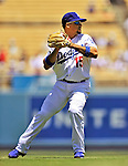 24 July 2011: Los Angeles Dodgers shortstop Rafael Furcal in action against the Washington Nationals at Dodger Stadium in Los Angeles, California. The Dodgers defeated the Nationals 3-1 to take the rubber match of their three game series. Mandatory Credit: Ed Wolfstein Photo