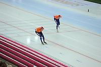 SPEED SKATING: HAMAR: Vikingskipet, 05-03-2017, ISU World Championship Allround, 10.000m Men, Sven Kramer (NED), Patrick Roest (NED), ©photo Martin de Jong