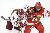 Danielle Welch (BC - 17), Taylor Holze (BU - 24) - The visiting Boston University Terriers defeated the Boston College Eagles 1-0 on Sunday, November 21, 2010, at Conte Forum in Chestnut Hill, Massachusetts.