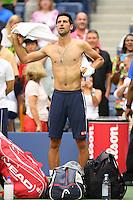 FLUSHING NY- SEPTEMBER 02: Novak Djokovic Vs Mikhail Youzhny on Arthur Ashe Stadium at the USTA Billie Jean King National Tennis Center on September 2, 2016 in Flushing Queens. Credit: mpi04/MediaPunch