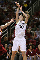 4 March 2007: Brooke Smith during Stanford's 67-52 win over USC at the Pac-10 women's basketball tournament at HP Pavilion in San Jose, CA.