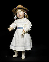 BNPS.co.uk (01202 558833)<br /> Pic: Bonhams/BNPS<br /> <br /> ***Please Use Full Byline***<br /> <br /> An extremely rare and unique k&auml;mmer &amp; reinhardt 108 bisque head character doll.<br /> &pound;60,000 - 80,000<br /> <br /> A creepy collection of almost 100 'lifelike' dolls modelled on children has emerged for sale with a whopping half a million pounds price tag. <br /> <br /> The eerie-looking toys were made in Germany in the early 20th century as dollmakers strived to produce dolls with realistic human features.<br /> <br /> The collection of 92 dolls, which includes some of the rarest ever made, has been pieced together by a European enthusiast over the past 30 years.<br /> <br /> It is expected to fetch upwards of &pound;500,000 when it goes under the hammer at London auction house Bonhams tomorrow (Weds).