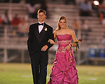 Sophomore maid Emily Gardner (left) is escorted by Justin Nail at Lafayette High vs. Byhalia in homecoming football action in Oxford, Miss. on Friday, September 24, 2010.