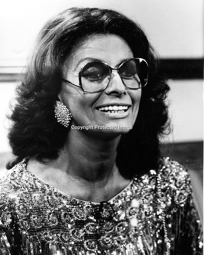 Actress Sophia Loren in San Francisco 1984.<br />(photo by Ron Riesterer)