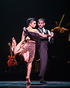"London, UK. 29.02.2016. German Cornejo's ""Immortal Tango"" opens at the Peacock Theatre. The dancers are: German Cornejo, Gisela Galeassi, Jose Fernandez, Martina Waldman, Max Van De Voorde, Solange Acosta, Mariano Balois, Sabrina Amuchastegui, Leonard Luizaga, Mauro Caiazza, Tere Sanchez Terraf, Julio Seffino, Carla Dominguez. Picture shows: Gisela Galeassi, German Cornejo. Photograph © Jane Hobson."