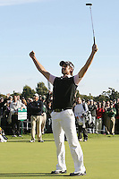 02/20/11 Pacific Palisades, CA: Aaron Baddeley during the final round of the Northern Trust Open held at the Riviera Country Club.Baddeley won the Tournament by two strokes over Vijay Singh.