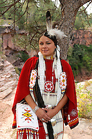 Terra Houska, Traditional Dress, Lakota, Native American Indian, Black Hills, South Dakota, USA