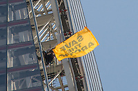 """11.07.2013 -  """"Save The Arctic"""" - Greenpeace Women Activists Scaling The Shard"""