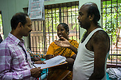 Patients interact with the resident doctor of the National Research Institute of Panchakarma in Cheruthuruthy in Thissur district of Kerala, India.