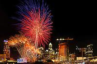 Charlotte Skyline Fourth of July Fireworks