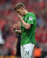 FUSSBALL   1. BUNDESLIGA   SAISON 2012/2013    31. SPIELTAG Bayer 04 Leverkusen - SV Werder Bremen                  27.04.2013 Nils Petersen (SV Werder Bremen) ist nach dem Abpfiff enttaeuscht