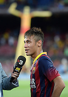 FUSSBALL  INTERNATIONAL   SAISON 2011/2012   02.08.2013 Gamper Cup 2013 FC Barcelona - FC Santos Neymar (Barca) beim Interview
