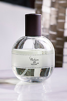 A bottle of Parfum de Valise based on essential oils and created by Duo by Seve