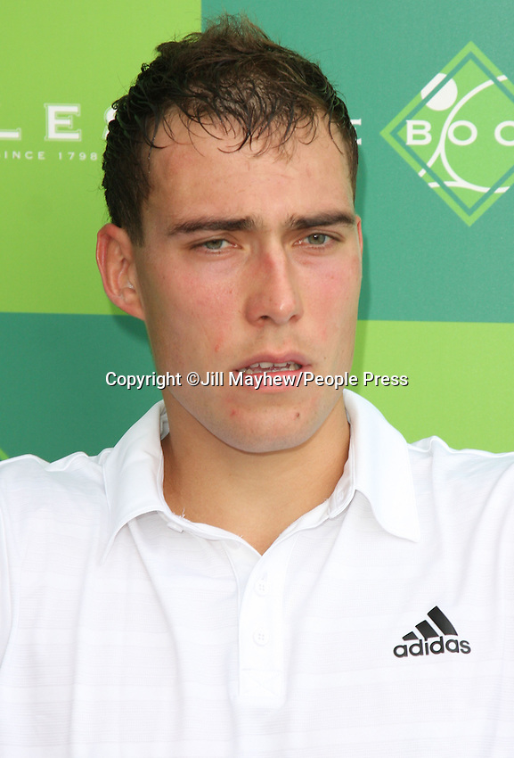 Jerzy Janowicz at The Boodles Tennis Challenge held at Stoke Park, Buckinghamshire, UK - June 21st 2013<br /> <br /> Photo by Jill Mayhew